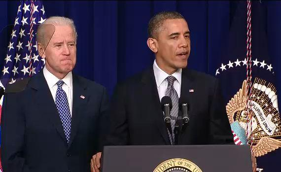 President Barack Obama and Vice President Joe Biden announce their plan to reduce gun violence on Jan. 16, 2013.