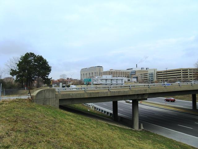 The Missouri Department of Transportation will close part of Interstate 64 this weekend to demolish the Newstead (foreground) and Taylor (background) Avenue bridges/