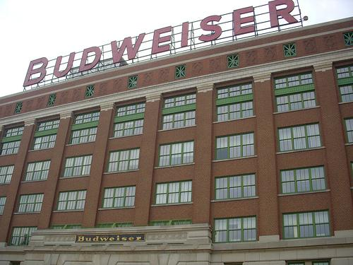 "The famous ""Budweiser"" sign atop the Anheuser-Busch Bevo Building is set to come down on Monday - but only for a few weeks."