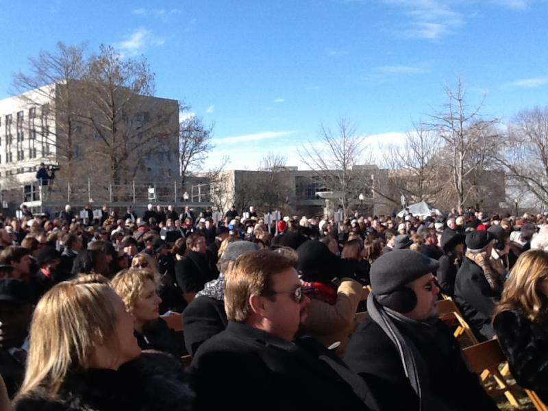 Thousands of people endured below-freezing temperatures to attend Missouri's 2013 inauguration ceremony.