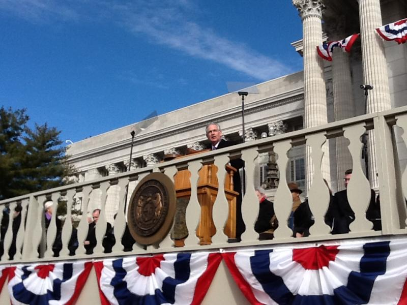 Gov. Jay Nixon (D) delivers his inaugural address after being sworn in.