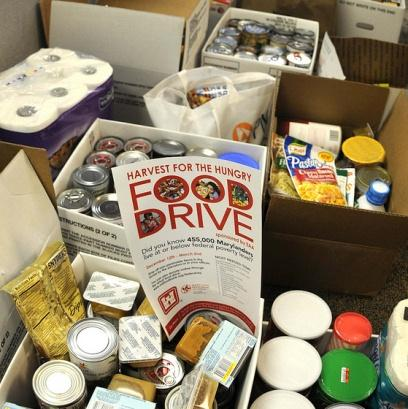 The U.S. Army Corps of Engineers hosts a food drive