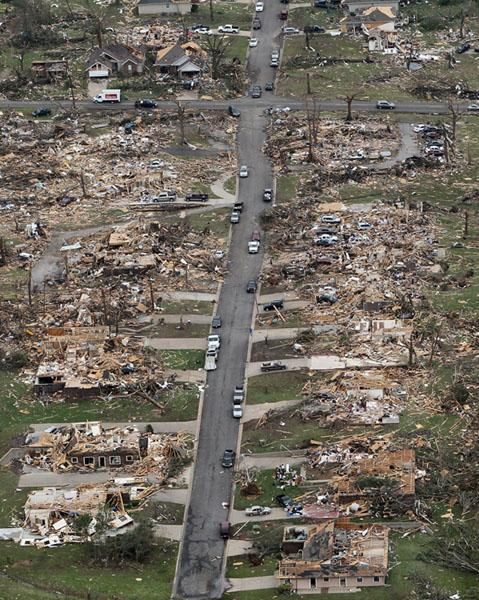 St. Louis Post-Dispatch coverage of the devastation caused by a tornado in Joplin, Missouri (2011)