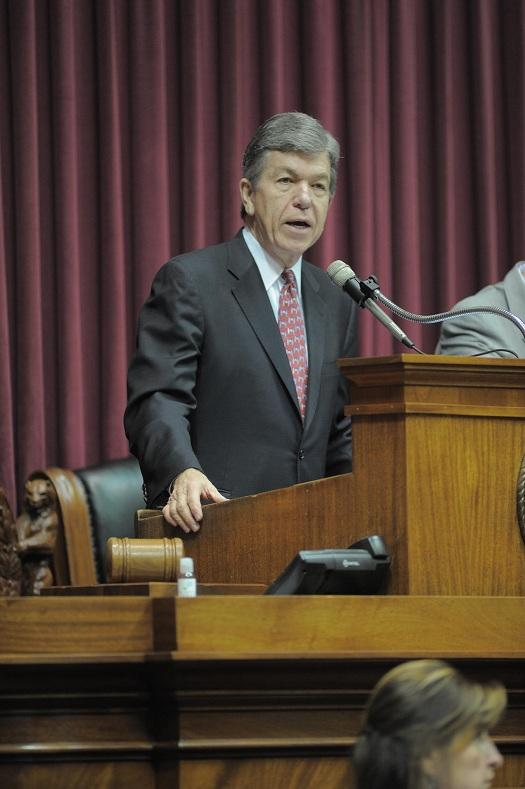 U.S. Sen. Roy Blunt (R, Mo.) address the Missouri House on Feb. 20th, 2013.