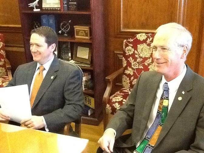 (l-r) Mo. House Speaker Tim Jones (R, Eureka) and House Budget Chairman Rick Stream (R, Kirkwood).