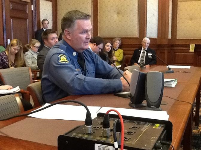 MSHP Superintendent Col. Ron Replogle answers question from Senate budget writers about the $5.6M airplane purchase.