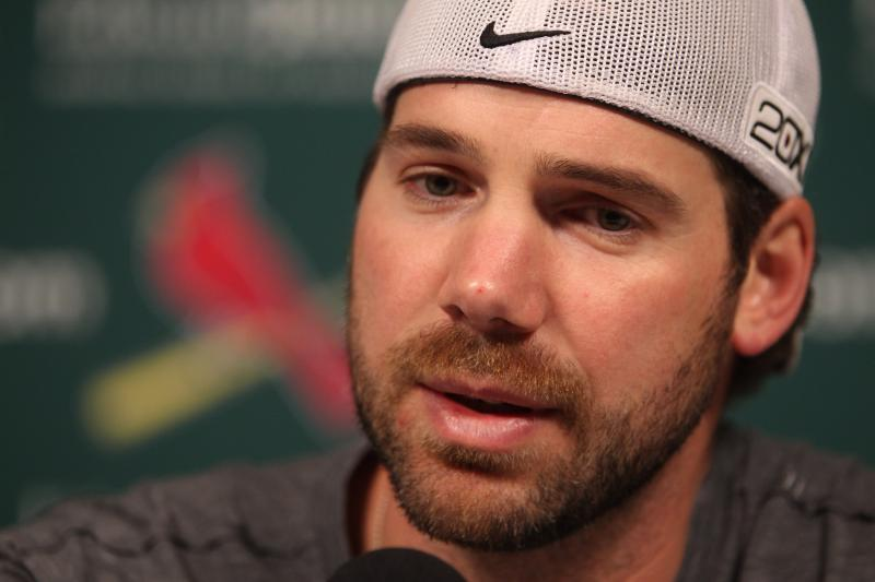 Cardinals pitcher Chris Carpenter addresses the media for the first time since the team announced he is unlikely to pitch in the 2013 season.