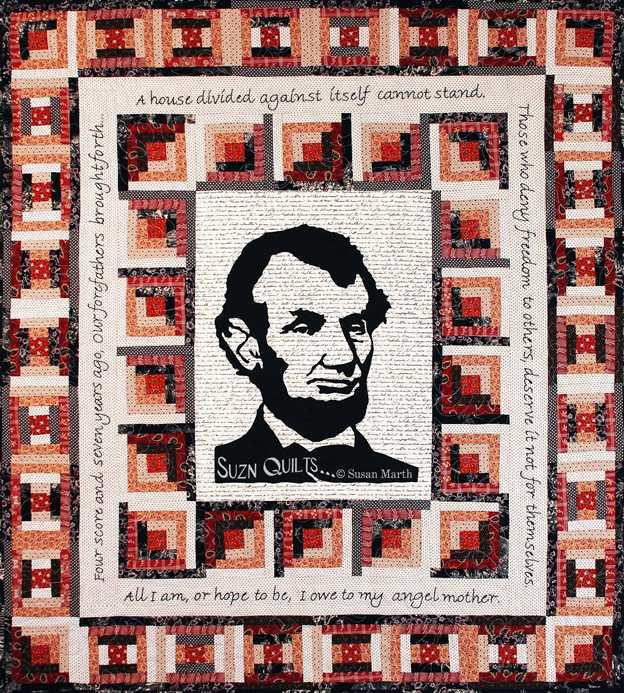 Susan Marth's Abraham Lincoln Tribute Quilt