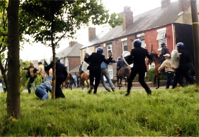 Jeremy Deller, The Battle of Orgreave, 2001. Commissioned and produced by Artangel. Courtesy the artist.