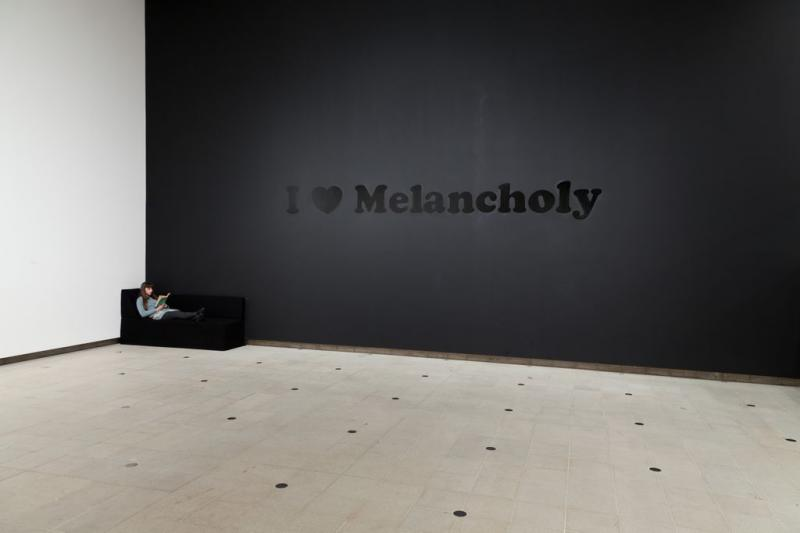 Jeremy Deller I ♥ Melancholy, 1995. Installation view, Hayward Gallery, 2012. Courtesy the artist and Hayward Gallery, Southbank Centre.