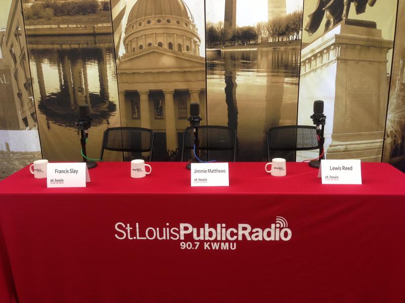 The stage set before the start of our St. Louis Mayoral Primary Forum.