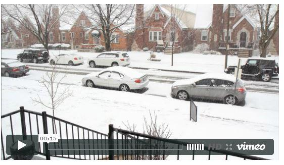 Facebook fan Scott Rackers shared this timelapse video of the snowstorm in St. Louis on March 24, 2013. Play the video below.
