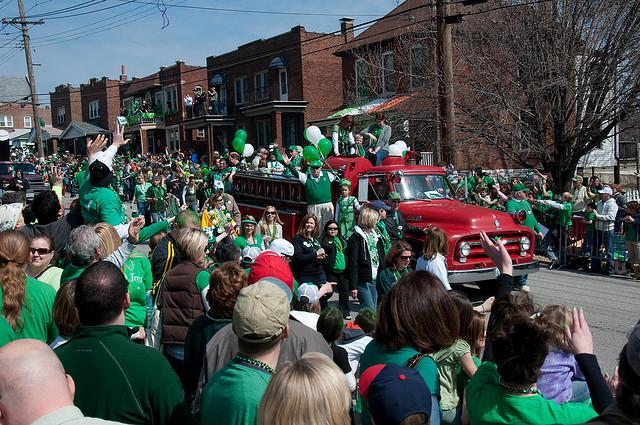 The Ancient Order of Hibernians' annual St. Patrick's Day Parade makes its way through Dogtown in 2010. Organizers have announced a ban on outside coolers at this year's event.