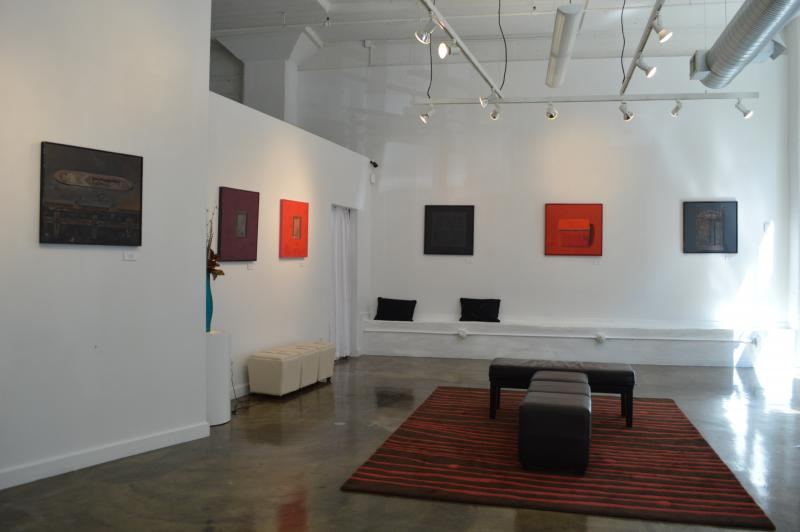 Hughes' works are on view at 10th Street Gallery through May 4.