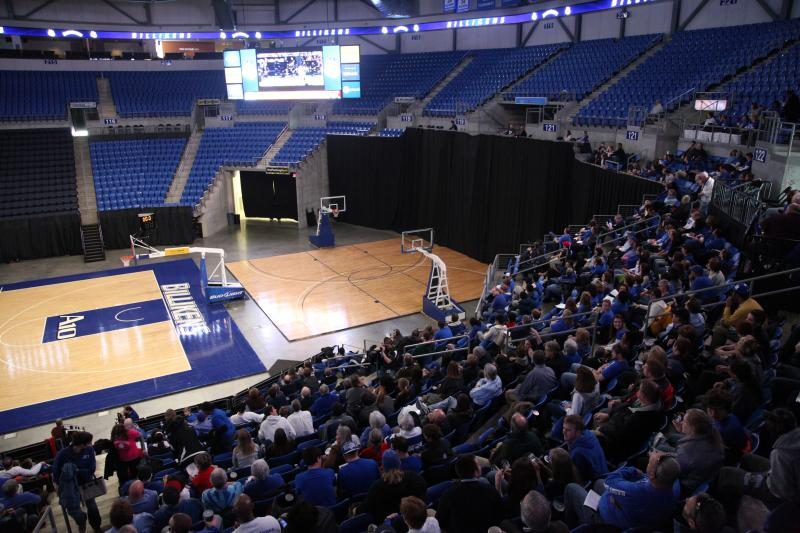The watch party for the St. Louis University Billikens at SLU's Chaifetz Arena.