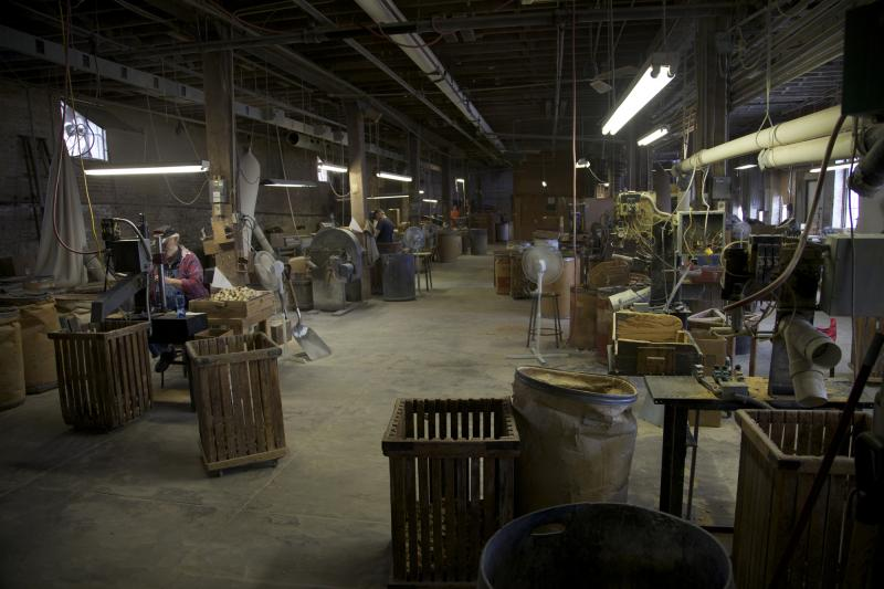 A glimpse inside the factory at the Missouri Meerschaum Co.