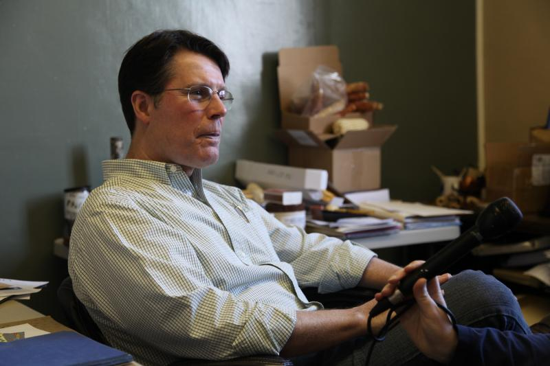 Phil Morgan, the general manager of Missouri Meerschaum.