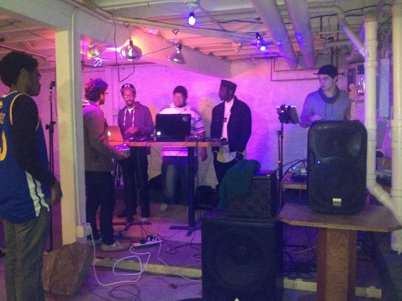 The basement of Blank Space morphed into a stage for the inaugural 'Louder Than Words' event held in March.