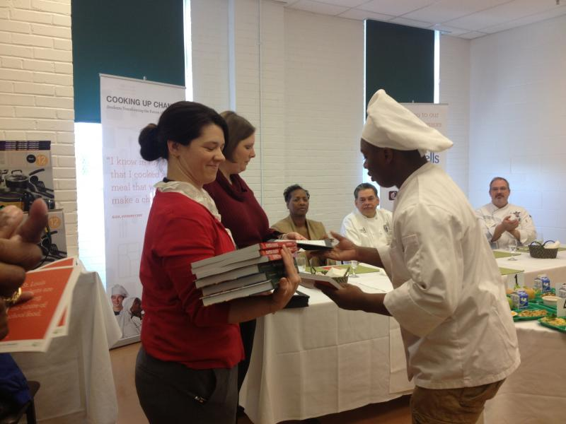 Each student was given a certificate and cookbook during the awards ceremony.