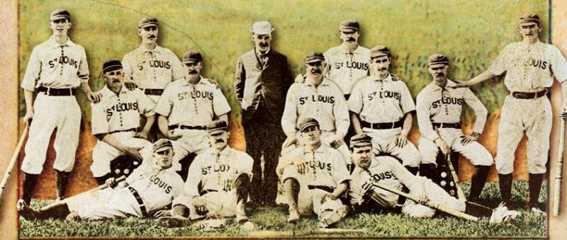 "The 1883 St. Louis Browns, Image from book cover, ""The Summer of Beer and Whiskey"""