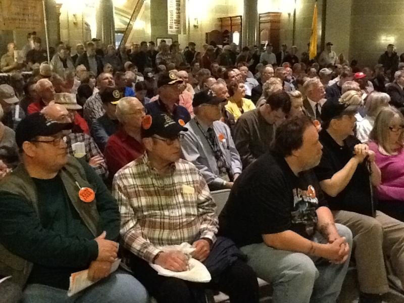 Roughly 300 people attended a rally Thursday to support legislation to expand gun owners' rights in Missouri.  HB 436 passed the Mo. House shortly after the rally ended.