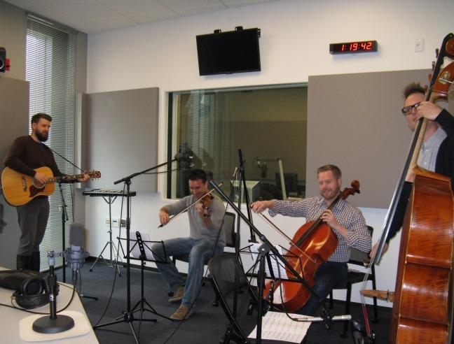 The 442's in St. Louis Public Radio Studio