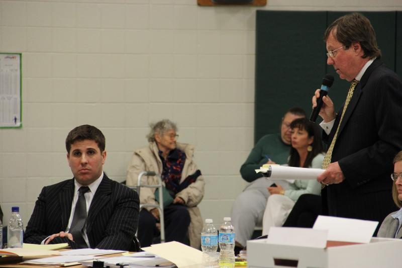 Ellisville Mayor Adam Paul (left) and his lawyer Chet Pleban (right).