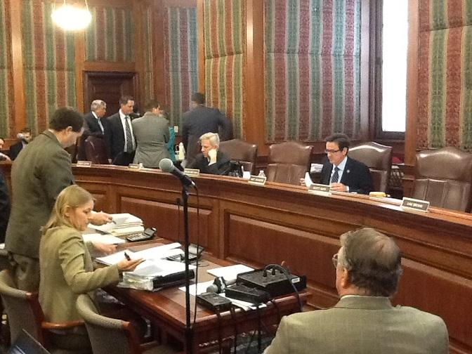 Mo. Sen. Appropriations Committee takes a short break during budget hearings and DOR inquiries on 4-10-2013.