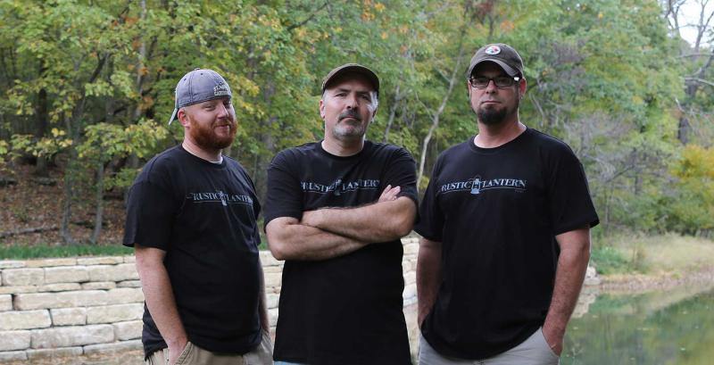 The Rustic Lantern team, from L-R: Jason Robert, Tony Nitko, and Roger Vass. Nitko wrote and produced the film.