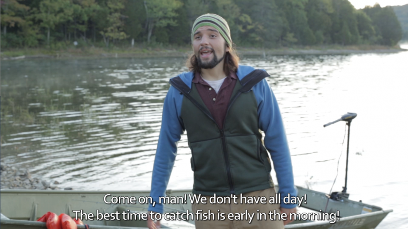 """The movie 'Lake Windfall' from Rustic Lantern Films centers on five friends who embark on a camping trip that turns disastrous. Of the five actors, three are deaf. Alexander Laferriere acts as Drew who is a CODA, or """"child of deaf adults."""""""