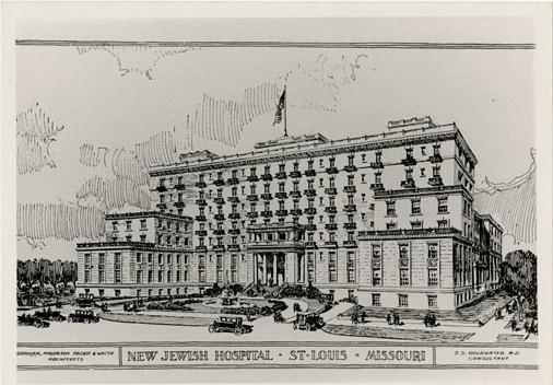 An artist's rendering of the new Jewish Hospital on Kingshighway, which was dedicated on May 16, 1927. This is one of three buildings that will be demolished.
