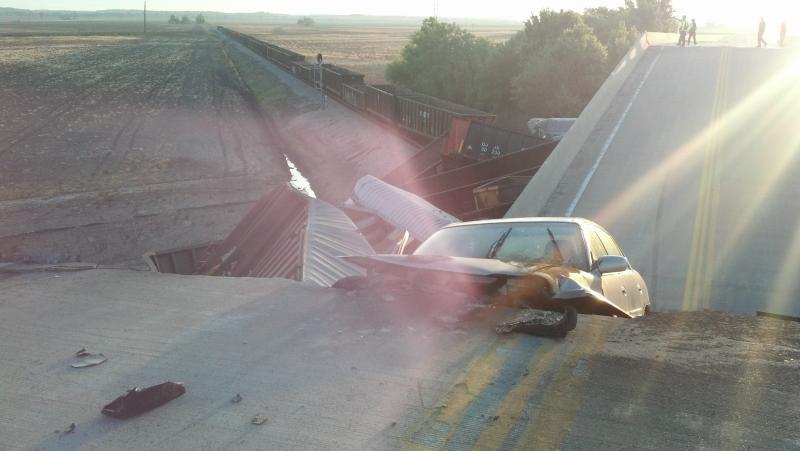 Photo of collapsed bridge
