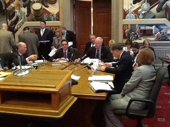 Mo. House and Senate budget negotiators meet on May 7th, 2013, to approve a final version of the FY2014 state budget.