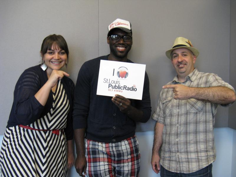 Erin Bode, Brian Owens and Peter Martin at St. Louis Public Radio