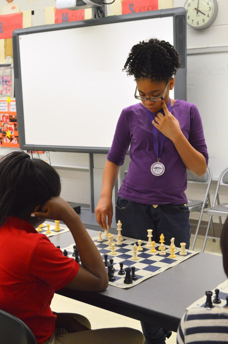 Shakoor studies her next move. is currently ranked in the 71st percentile nationwide and in the 90th percentile among female players.