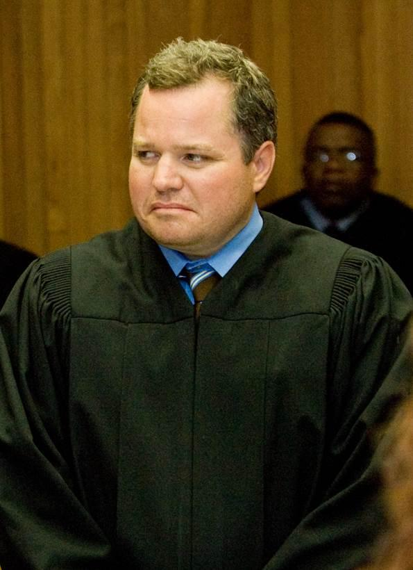 Judge Michael Cook is sworn in as a St. Clair County judge in 2010.