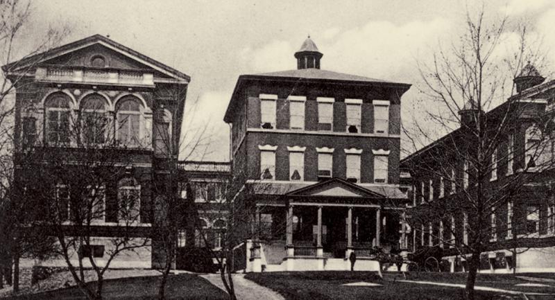 The original Jewish Hospital, at 5145 Delmar Blvd. Workers laid the cornerstone on May 16, 1901.