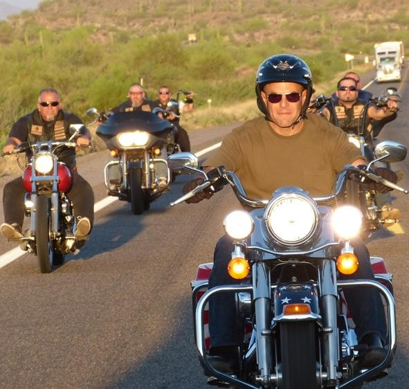 Peter Sagal on the Harley