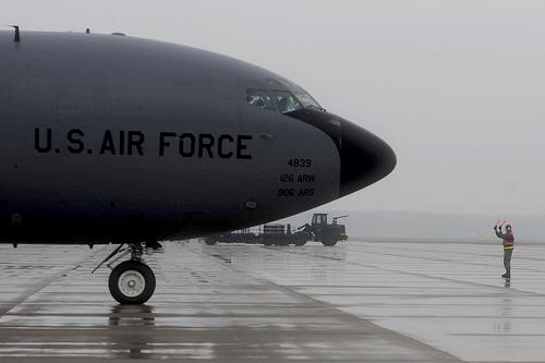 The KC-135 is an aerial refueling tanker. The aircraft is critical to the operations at Scott Air Force Base