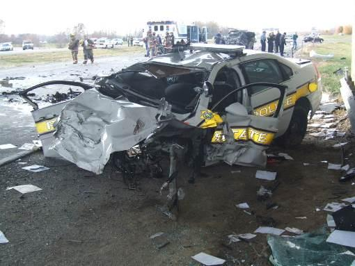 Ex-Illinois State Police trooper Matt Mitchell was driving an estimated 128 miles per hour while distracted when he crashed into the car carrying Jessica and Kelli Uhl