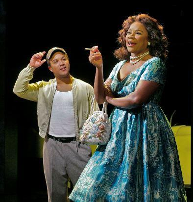 (L to R) Aubrey Allicock as Young Emile Griffith and Denyce Graves as Emelda Griffith in Opera Theatre of Saint Louis' 2013 world premiere production of Champion.