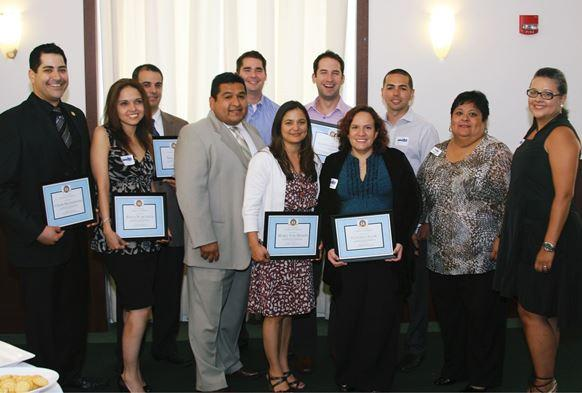 The graduates of the first Latino Leadership Institute in 2012