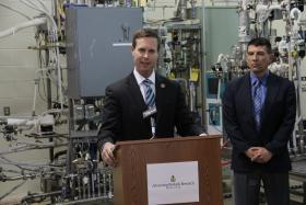 "U.S. Rep. Rodney Davis (R-Ill.) Introduces the ""Opportunity KNOCKS Act"" during a press conference at the National Corn-to-Ethanol Research Center in Edwardsville on Tuesday, April 30"