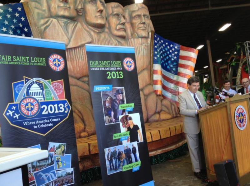 Grand Marshall Bill Macon on June 28 detailing plans for the 33rd annual Fair Saint Louis.