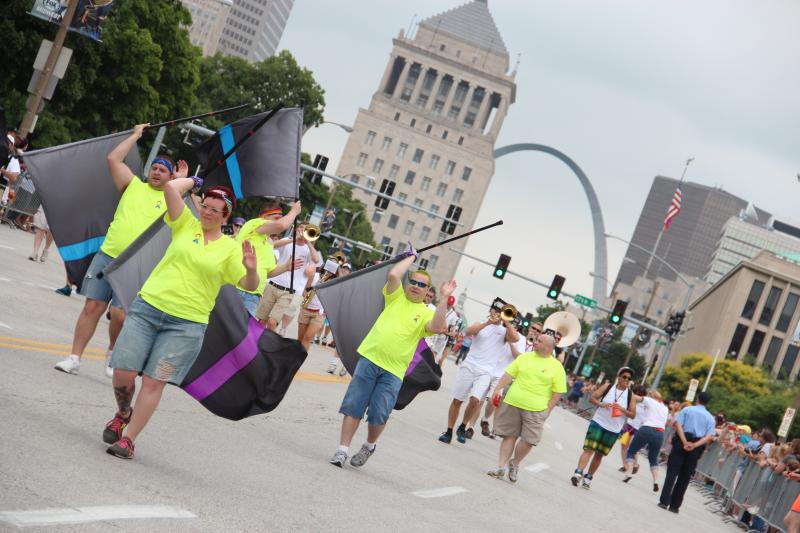 PrideFest's annual parade was held for the first time in downtown St. Louis on Sunday, June 30