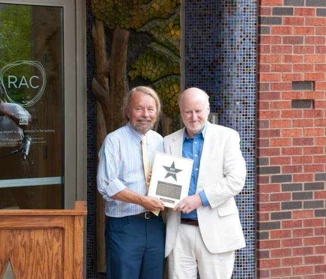 Rocco Landesman with St. Louis Walk of Fame's Joe Edwards
