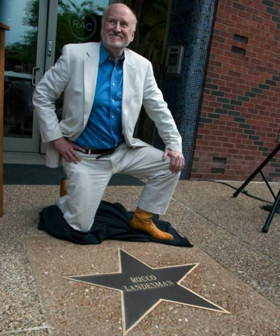 Rocco Landesman with his St. Louis Walk of Fame star
