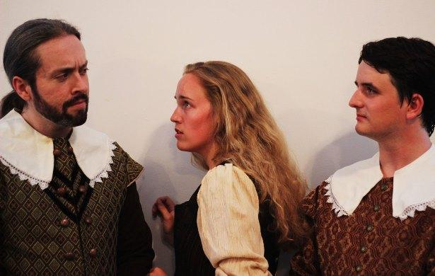 """The Two Noble Kinsmen"" (from L to R) Ben Ritchie, Hannah Pauluhn, Ian Geary"