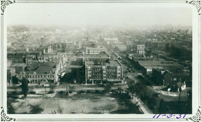 Overview of the Delmar Loop, circa 1931.