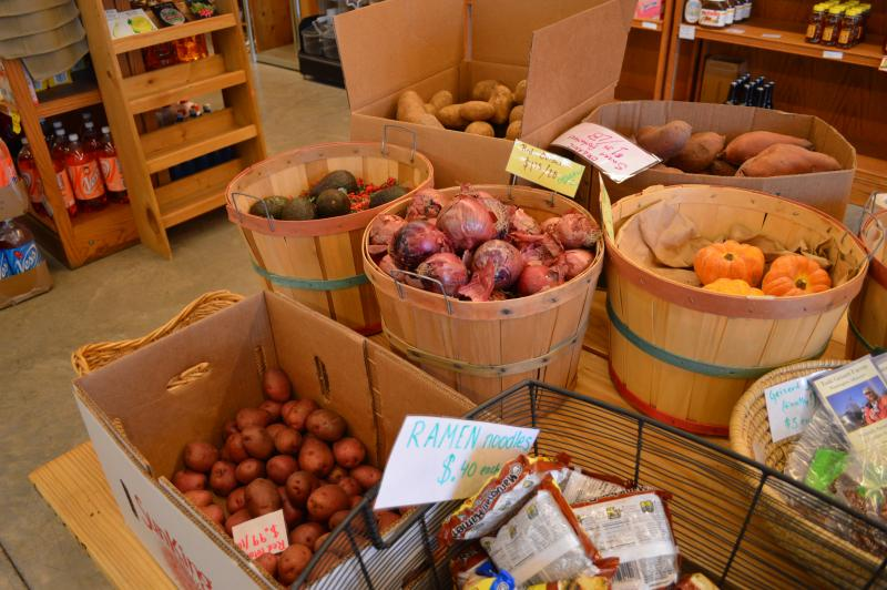 Despite offering fresh fruits and vegetables to customers, foot traffic is generally slow at the Old North Food Co-op.